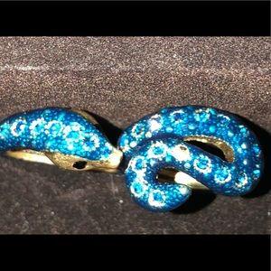 Betsy Johnson double snake  ring